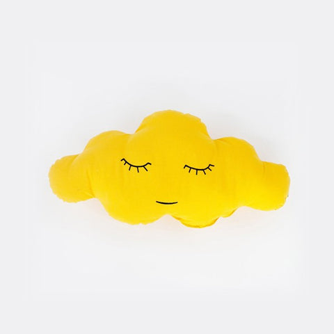 Buy Modern Cloud Shaped Yellow Cotton Pillow | 212Concept