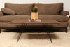 Buy Steel Base Wooden Williams Rectangular Coffee Table | 212Concept