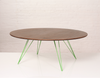 Buy Walnut Top Oval Industrial Williams Coffee Table | 212Concept