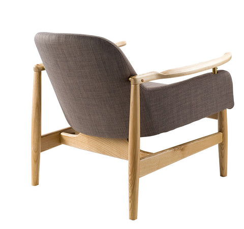 Buy Low-Slung Back With Ash Wood Frame Lounge Chair | 212Concept