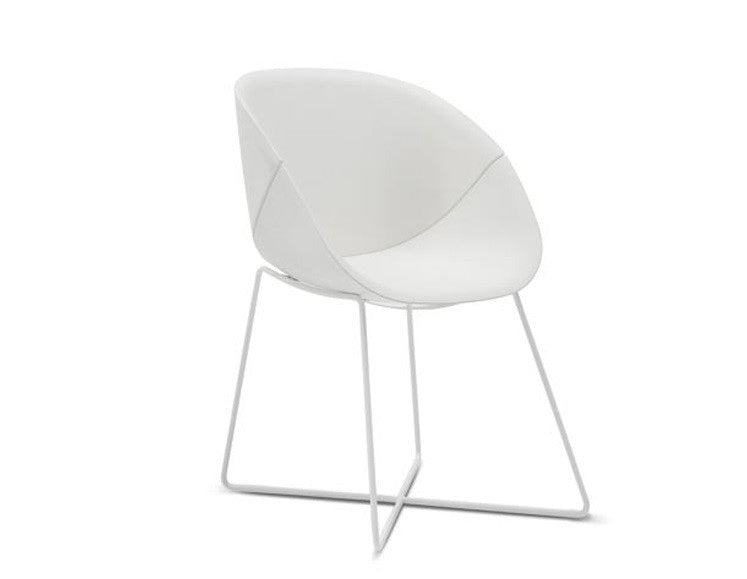 Buy Round Curvy Italian Armchair With Sled Base | 212Concept