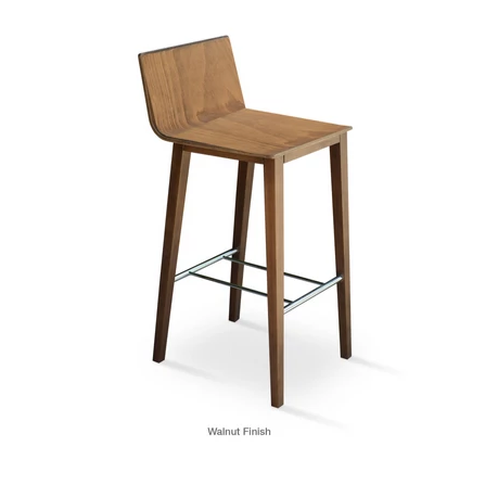Buy Walnut Wood Frame Corona Stool | 212Concept