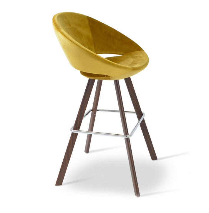 Buy Dowel Wood Veneer Legged Round Shell Stool | 212Concept
