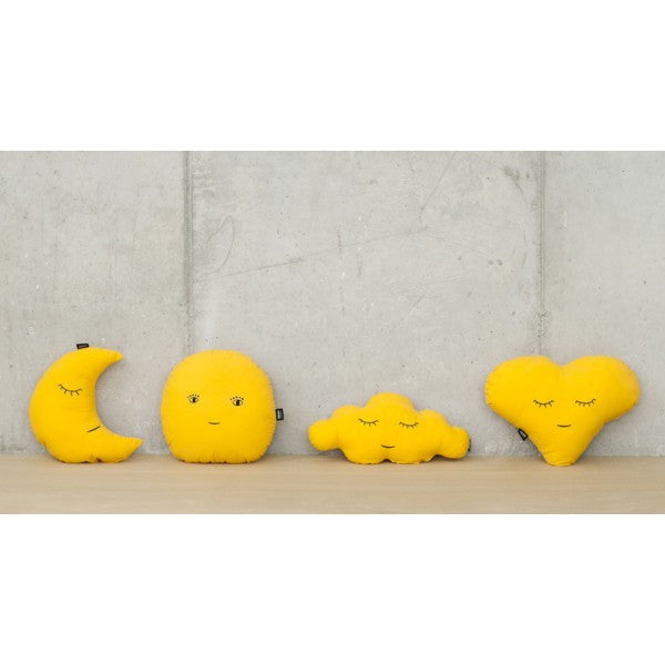 Modern creatures yellow pillow  collection