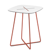 Buy White Laminate Top Side Table in Red Frame | 212Concept