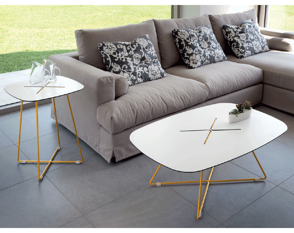 Buy White Laminate Top Tables in Yellow Frame | 212Concept