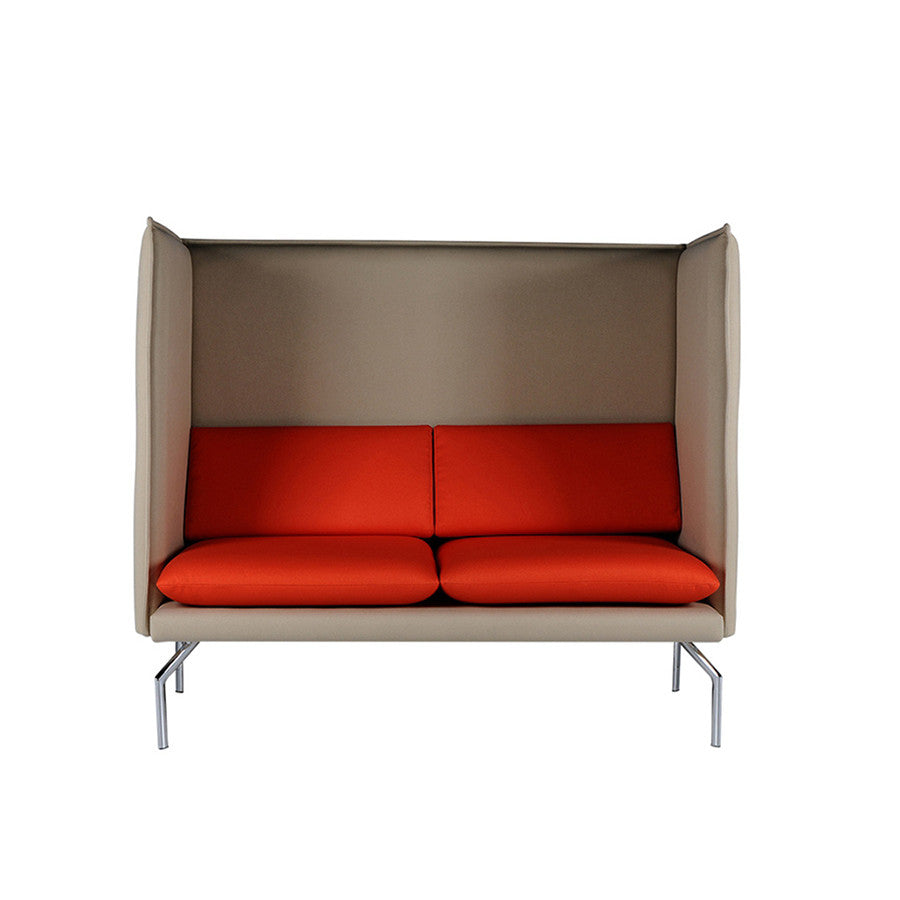 Buy Slender Cube Design 2 Seater Sofa with Plush Cushions