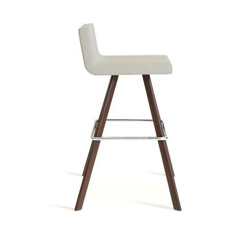 Shop For Leather Upholstered Wooden Dallas Sword Barstool | 212Concept