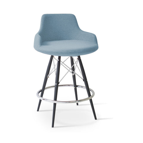 Buy Round Curvy Commercial Dowel Base Stool | 212Concept