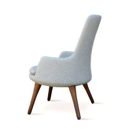 Buy Round High Back Wood Legged Lounge Chair | 212Concept