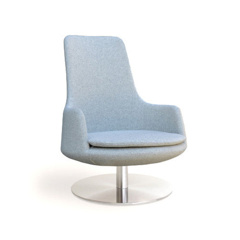 Buy High Back Round Swivel Lounge Chair | 212Concept