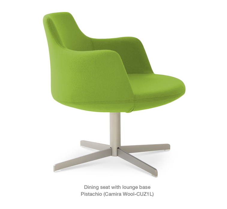 Buy Round Pedestal Swivel Lounge Chair 212concept