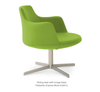 Buy Round Spaciuos Pedestal Swivel Lounge Chair | 212Concept
