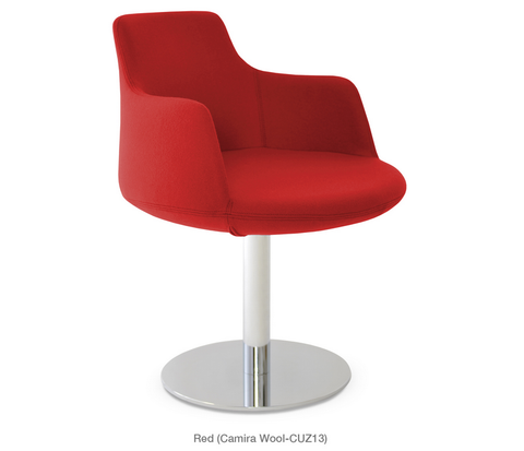 Buy Round Wide Seat Chair With Round Swivel Base | 212Concept