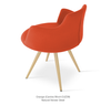 Buy Curvy 4-Legged Steel Base Modern Armchair | 212Concept