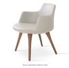 Buy Solid Beech Four-Leg Base Upholstered Armchair | 212Concept