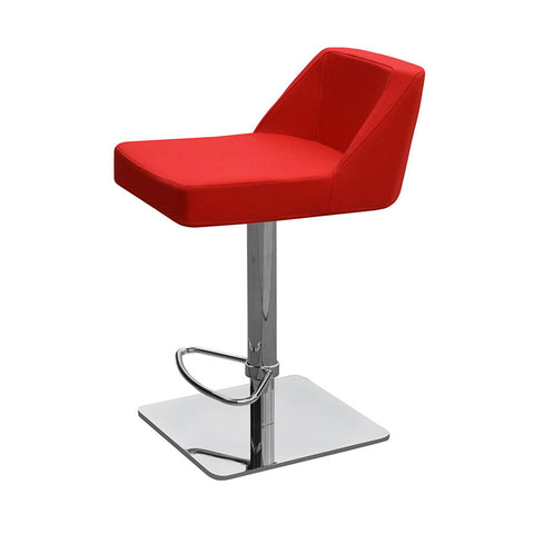 Buy Swivel with Gas Piston Red Leather Stool | 212Concept