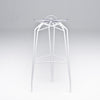 Diamond modern barstool with white legs