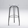 Diamond modern barstool with black legs
