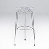 Diamond modern barstool with chrome- plated base
