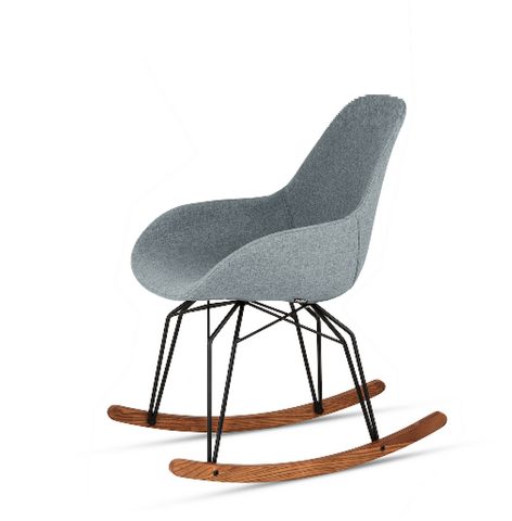Buy Hand-Tailored Walnut Runners Rocker Chair | 212Concept
