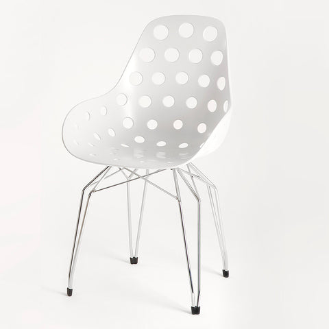 White Shell Diamond Dimple Armchair | 212Concept