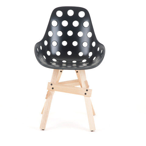 Modern Icon Dimple Armchair Black Shell | 212Concept
