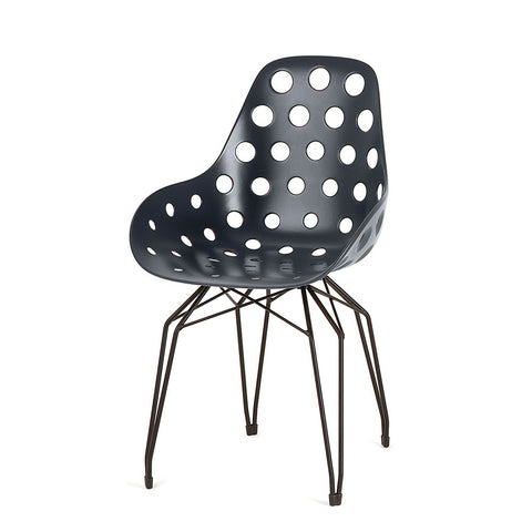 Modern Diamond Dimple Chair Black Shell | 212Concept