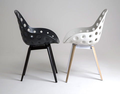 Modern Slice Dimple Armchairs Side View | 212Concept