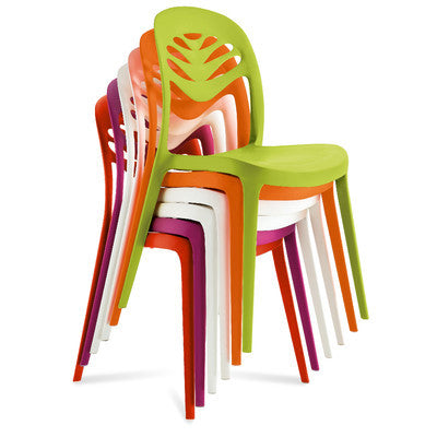 Modern Stacking Outdoor Fiberglass chair in al colors