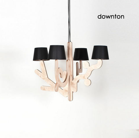 Modern Wooden Suspension Light in Color | 212Concept