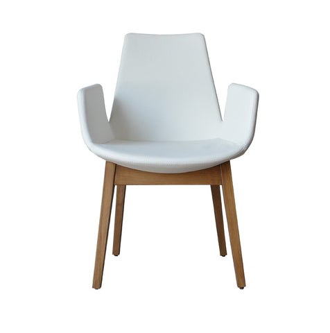 Eiffel Wood Armchair White