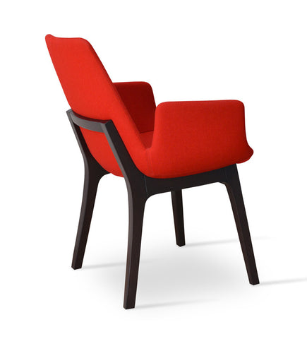 Buy Eiffel Wood Red Armchair | 212Concept