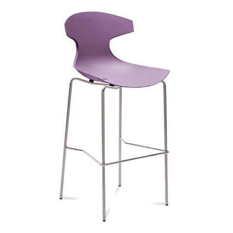 Echo-SGA Fiberglass Outdoor Barstool Lilac Shell By Domitalia