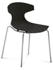 Stacking Outdoor Echo Chair in Black Color by Domitalia