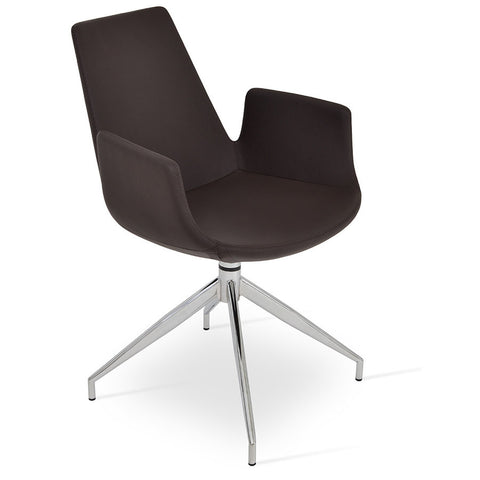 Buy 4-legged Swivel Mid-Century Modern Eiffel Arm Spider Chair | 212Concept