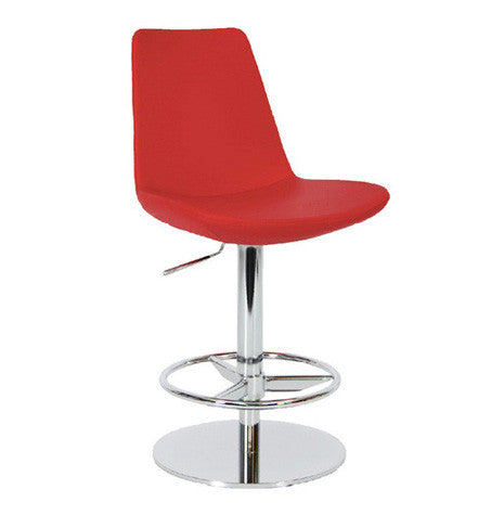 Eiffel Piston modern barstool with swivel base