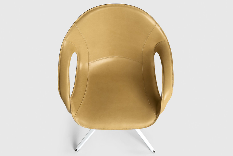 Elephant Trestle Swivel Armchair