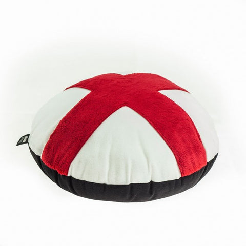 X design pillow; black and red