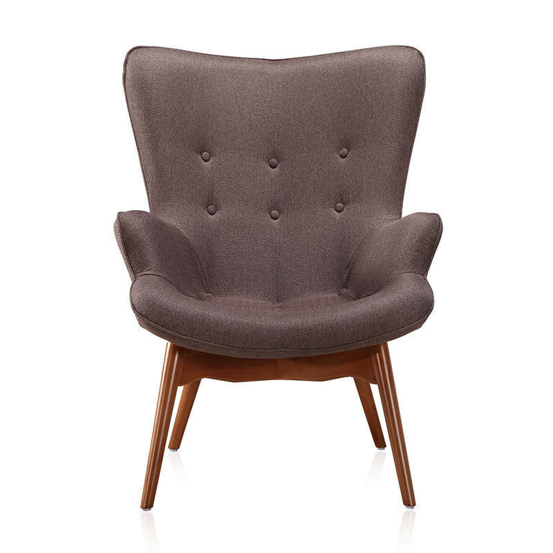 Buy High Wing Like Back Rest Lounge Chair With Button Tufting | 212Concept