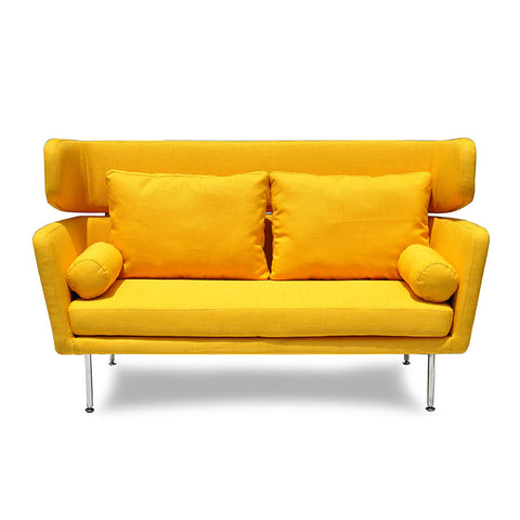 Buy High Winged Back Yellow Commercial Zest Lounge Sofa | 212Concept