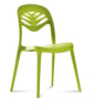 Modern Stacking Outdoor Fiberglass chair in lime green