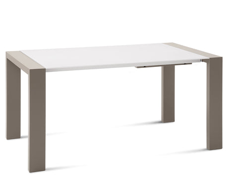 Buy White Glass Dining Table With Leaf | 212Concept