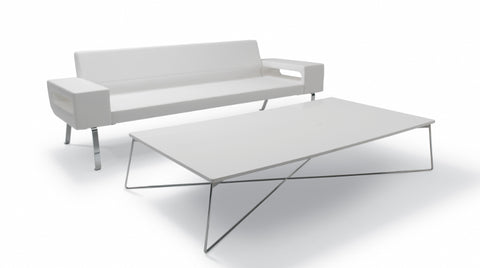 Buy Modern Rectangular Wooden Fly Coffee Table Metal Base | 212Concept