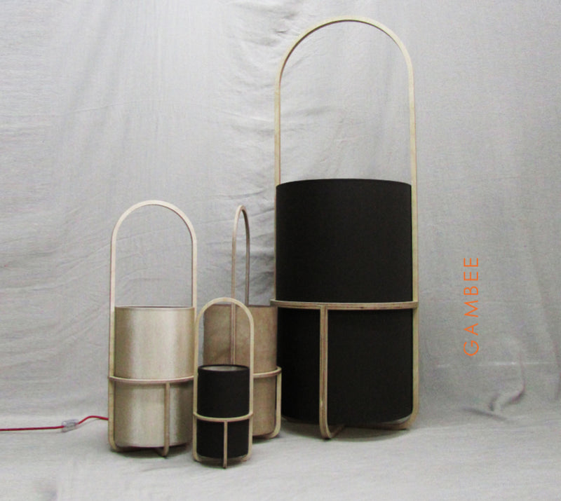 Buy Thin Translucent Plywood Cylinder Shaped Lights | 212Concept