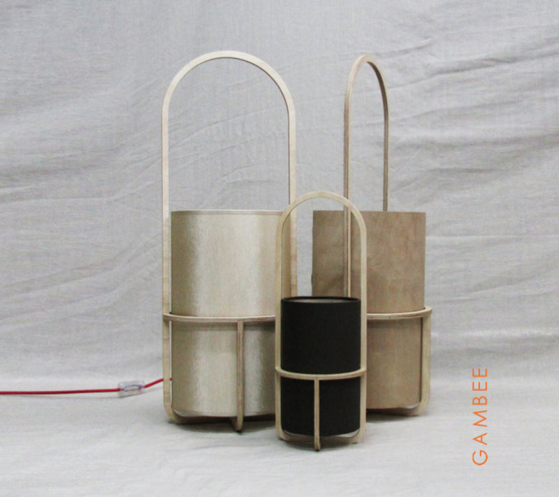 Buy Thin Translucent Plywood Cylinder Shaped Floor Light | 212Concept