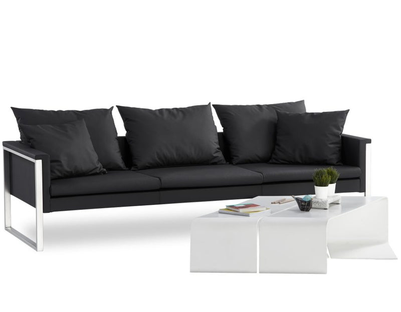 Buy Black Leather Go Large Triple Sofa B & T Design | 212Concept