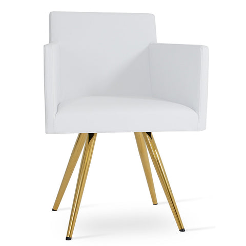 Buy Box Shaped Contemporary Harput Star Gold Legged Armchair | 212Concept