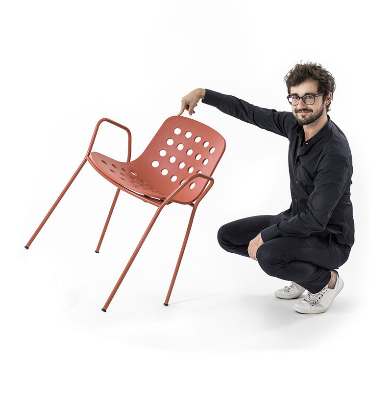 Buy Minimal Light Weight Stackable Italian Outdoor Armchair | 212Concept