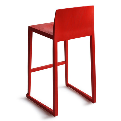 Sled Barstool in Red Paint